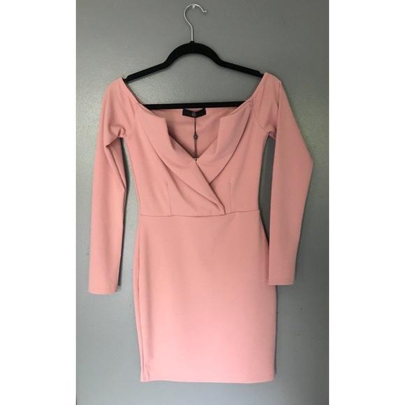 a8b12185caec Missguided Dresses | Nwt Pink Bardot Foldover Wrap Dress | Poshmark